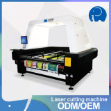 Sublimation Fabric Embroider Flatbed Laser Cutting Machine