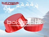 Round Happy Hour Christmas Cake Pudding Baking Cup