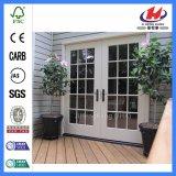 Folding Sliding Interior Solid Wood Bifold Glass Doors (JHK-G24)