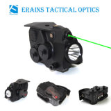 Tactical Full Size Pistol Fittable Aluminium 600 Lumens LED Flashlight with Green Laser Sight