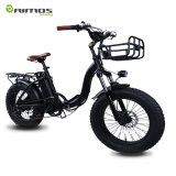 Hot Sale America and Europe Market Mountain 48V 750W 20inch Folding Fat Tire Electric Bike for Sale