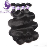 Unprocessed Natural Color Brazilian Remy Body Wavy Hair Weft