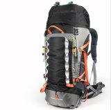 Outdoor 60L Travel Double Shoulder Reinforced Waterproof Black Mountain Backpack