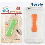 Plastic Finger Grip Strap Phone Holder Anti Slip Elastic Stand for Cell Phone
