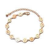 Popular Women Fashion Jewelry Stainless Steel Smiling Face Charm Bracelet