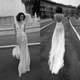 Backless Tulle Party Formal Gowns Bridal Wedding Evening Dress Z3009