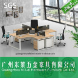 Good Quality Modern Staff Table Office Furniture with Stainless Steel Desk Foot