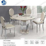 Modern Fashion Customized Marble Dining Table Furniture with Stainless Steel Frame