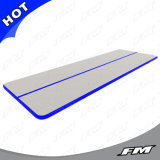 FM 2X15m P1 Blue Surface and Grey Sides Inflatable Air Tumble Track