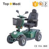 Topmedi off Road Handicapped Electric Mobility Scooter with Plywood Basket