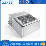 Desk Type Ice Cream Display Cabinet/Gelato Showcase