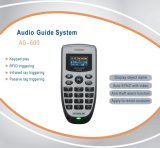 AG-600 Audio Guide with Keypad Play + Automated Triggering Plays