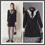 2018 High Quality New Arrival Designer Autumn Women Black Velvet Party Cocktail A-Line Dress