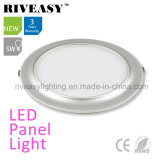 2017 New Product Electroplated Aluminum 5W Silver LED Panel Light