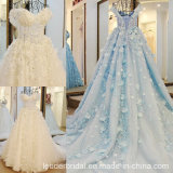 Lace Bridal Ball Gown Cap Sleeves Tulle Wedding Dress Gv2241