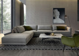 Home Furniture Modern L Shape Sectional Fabric Sofa (corner sofa)