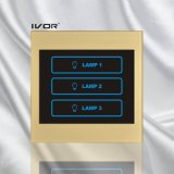 3 Gangs Lighting Touch Switch Acrylic Frame (SK-LT100L3)
