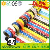 Wholesale Various Colorful Japanese Fantastic Design Bright Shiny Star Adhesive Washi Masking Paper Tape for Scrapbook Craft