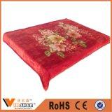 Super Soft Thick Flowers 2 Ply Wedding Red Raschel Blankets