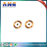 Round Transparent Passive Lf RFID Coin Tags with Adhesives