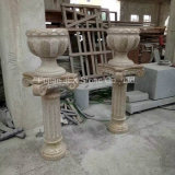 G682 Yellow Granite Polished Flower Pot with Pedestal