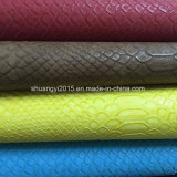 Snake Pattern PU Leather for Fashion Shoes