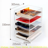 A4 5 Layers Acrylic Material Display Stand
