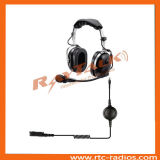 Over The Head XLR Quick Disconnect Aviation Headset Two Way Radio Headphones