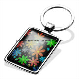 Promotion Colorful Cheap Printed & Epoxy Metal Key Chain