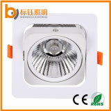 15W Adjustable COB Ceiling Lamps Square Suspended LED Down Light