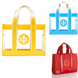PVC Beach Handle Tote Hand Bags for Lady