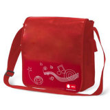 Printed PP Non Woven Shoulder Bag, Promotional Messenger Bag