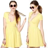 OEM 100% Cotton High-Waisted Sexy Casual Summer Women Dress