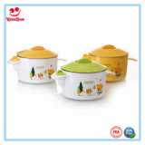 2 Ears Water Injection Insulation Baby Bowl with Lid