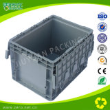 Grey Color Stackable Euro Plastic Pallets with Cover
