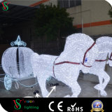 Pumpkin Horse Carriage Motif LED Light for Shopping Mall Decoration