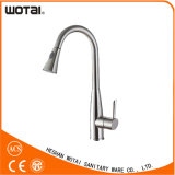 Brass Material Single Lever Pull out Kitchen Faucet