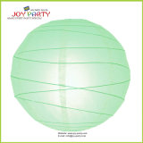 Light Green Irregular Ribbed Paper Lantern