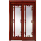 Oppein Chinese Style Wood Frame Glass Sliding Door (MSZY01)