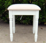 White Color Wooden Dressing Stool European Style Stool (M-X1007)