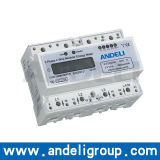 Three Phase DIN-Rail Watt-Hour Meter (ADM100TCR)