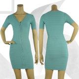 Sky Blue Short Sleeve Dress