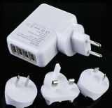 4 USB Wall Charger for Travel (SH8040)