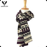 Fashion Custom Knitting Pattern Acrylic Jacquard Scarf