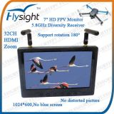 """E6 5.8 GHz Wireless 7"""" HD 1024*600 LCD Screen Receiver Monitor with HDMI Input (RC801)"""
