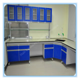 Steel and Wood School Chemistry Laboratory Furniture
