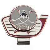 Soft Enameled Silver Plated Golf Hat Clip with Ball Marker for Sports Products