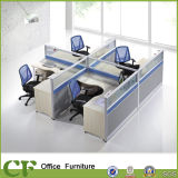 Crossed Shape Woden 4 Seater Workstation