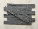 10*40cm Hot Sale Natural Black Slate Building Stone (HHSC10X40-002)