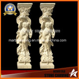 Hand Carved Natural Stone Column